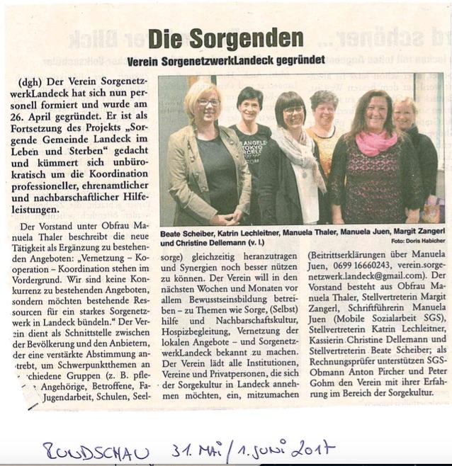 Vereinsgründung SORGEnetzwerk Landeck